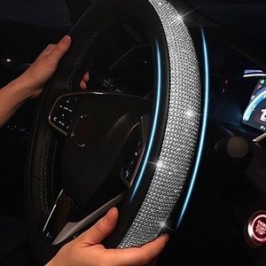 Leather & Crystal steering wheel covers